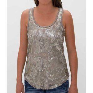 NWT BKE Racer Back Lace Tank Top LG